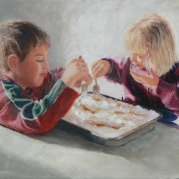 Painting, oil, figurative, artwork by Azucena
