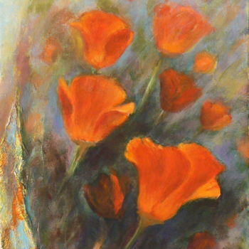 """Painting titled """"D'Autres coquelicots"""" by Azucena, Original Art, Oil"""