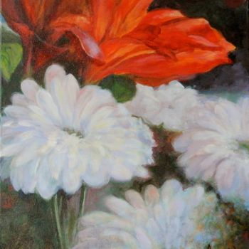 """Painting titled """"Amitié"""" by Azucena, Original Art, Oil"""