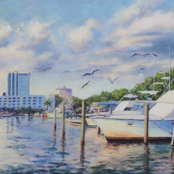 Boat Painting, acrylic, impressionism, artwork by Azucena