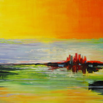 Painting, oil, abstract, artwork by Azucena