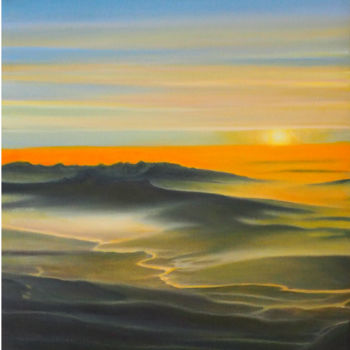 Desert Painting, oil, figurative, artwork by B-Alexis