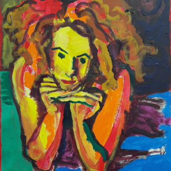 Painting, acrylic, expressionism, artwork by Barrie Walker