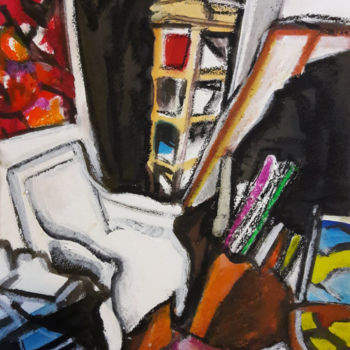 Painting, ink, expressionism, artwork by Barrie Walker