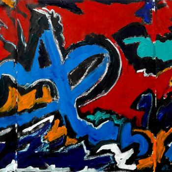 Painting, acrylic, abstract, artwork by Barrie Walker