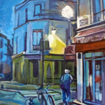 """Painting titled """"Early Evening"""" by Barrie Walker, Original Art,"""