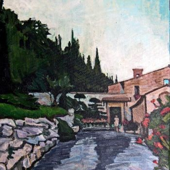"""Painting titled """"Cetona, Convento di…"""" by Barrie Walker, Original Art,"""