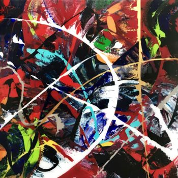 Painting, acrylic, abstract, artwork by Be-Me-L By Kristin Bemelmans
