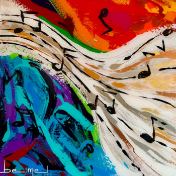 Color Painting, acrylic, abstract, artwork by Be-Me-L By Kristin Bemelmans