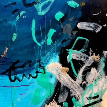 """Painting titled """"Under the Sea I"""" by Bea Mahan, Original Art, Acrylic"""