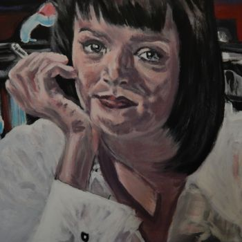 """Painting titled """"Mrs. Wallace"""" by Becky Arner, Original Art, Acrylic"""
