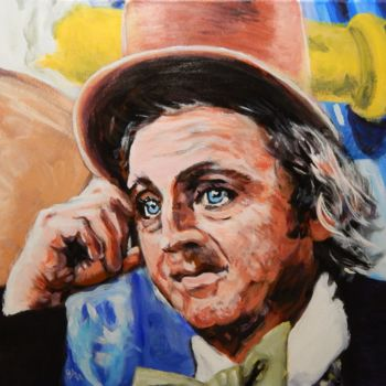 """Painting titled """"Willy Wonka"""" by Becky Arner, Original Art, Acrylic"""