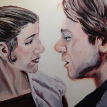 """Painting titled """"Leia & Han"""" by Becky Arner, Original Art, Acrylic"""