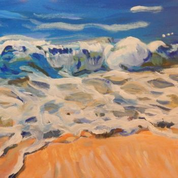 """Painting titled """"Wave"""" by Becky Arner, Original Art, Acrylic"""