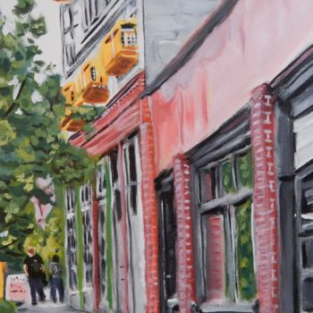 """Painting titled """"Seattle, Pine Street"""" by Becky Arner, Original Art, Acrylic"""