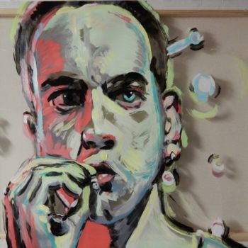 """Painting titled """"Trainspotting 3"""" by Becky Arner, Original Art, Acrylic"""
