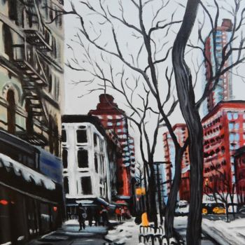 """Painting titled """"New York Cold 2"""" by Becky Arner, Original Art, Acrylic"""