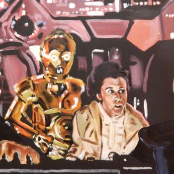 """Painting titled """"Inside the Falcon"""" by Becky Arner, Original Art, Acrylic"""