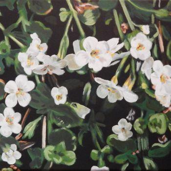"""Painting titled """"Little Flowers"""" by Becky Arner, Original Art, Acrylic"""