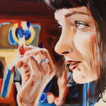 """Painting titled """"Mrs. Wallace #2"""" by Becky Arner, Original Art, Acrylic"""