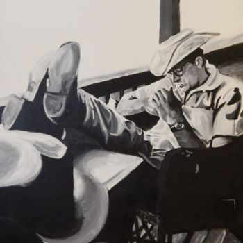 """Painting titled """"James Dean on the s…"""" by Becky Arner, Original Art, Acrylic"""