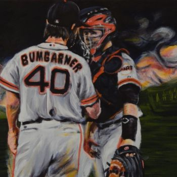 """Painting titled """"MadBum and Posey"""" by Becky Arner, Original Art, Acrylic"""
