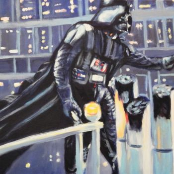 """Painting titled """"Vader"""" by Becky Arner, Original Art, Acrylic"""