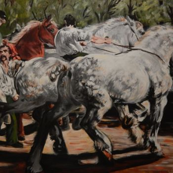 """Painting titled """"Bonheur's The Horse…"""" by Becky Arner, Original Art, Acrylic"""