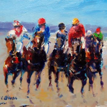 Horse Painting, oil, expressionism, artwork by Bill O'Brien