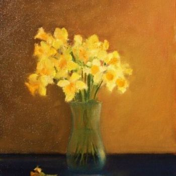 """Painting titled """"Host of Daffodils"""" by Bill O'Brien, Original Art, Oil"""