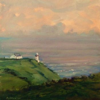 """Painting titled """"Bailey Howth Eve."""" by Bill O'Brien, Original Art, Oil"""