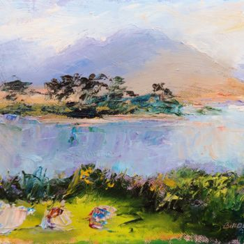 Painting, oil, expressionism, artwork by Bill O'Brien