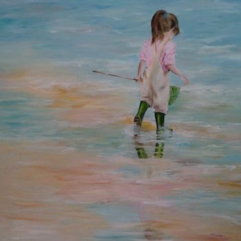 """Painting titled """"l'epuisette"""" by Patricia Blanchet, Original Art, Oil"""