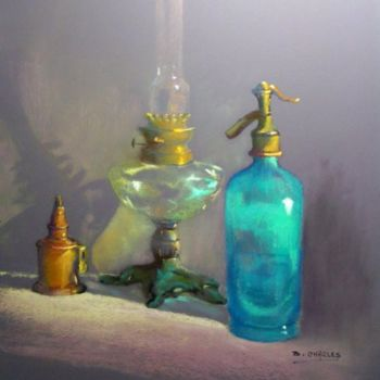 """Painting titled """"TRANSPARENCES"""" by Brigitte Charles, Original Art, Oil"""