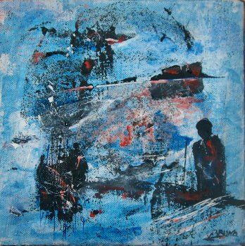 """Painting titled """"Mouvance"""" by Bruno Briatte, Original Art, Oil"""