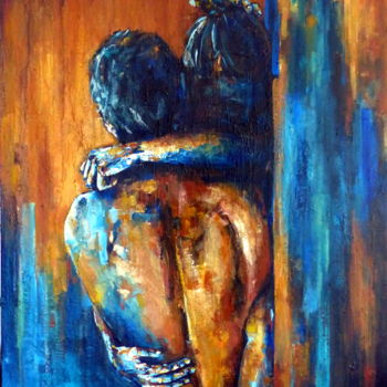 Love Painting, acrylic, figurative, artwork by Camille Guérin