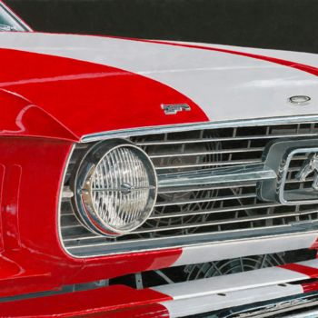 """Painting titled """"67's Mustang"""" by Carlos María Ferreira Soto, Original Art,"""