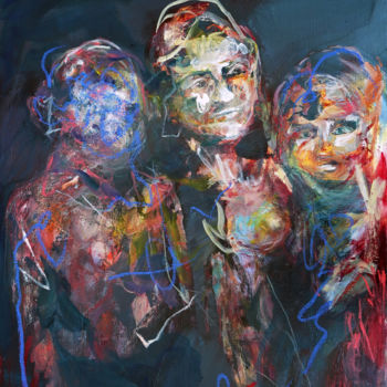 Painting, oil, expressionism, artwork by Catherine Duchêne