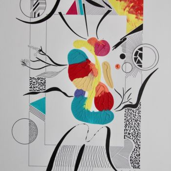 Drawing, ink, abstract, artwork by Pascal Cavalli