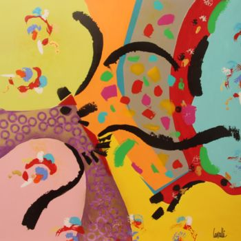 Painting, acrylic, abstract, artwork by Pascal Cavalli