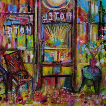 """Painting titled """"Rainbow Hotel"""" by Muriel Cayet, Original Art, Acrylic"""