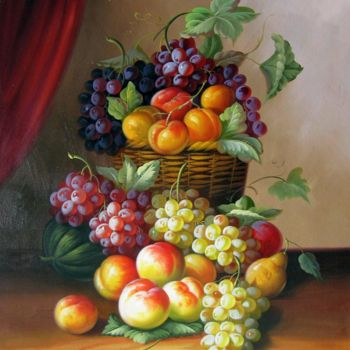 """Painting titled """"Fruit #102"""" by Lermay Chiang, Original Art, Oil Mounted on Stretcher frame"""