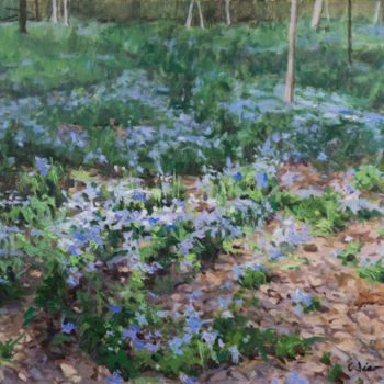 """Painting titled """"Wildflowers"""" by Charles Jiao, Original Art, Oil"""
