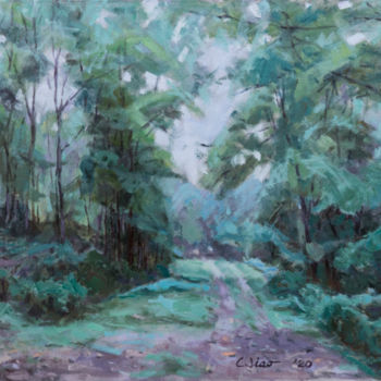 """Painting titled """"Late Summer"""" by Charles Jiao, Original Art, Oil"""