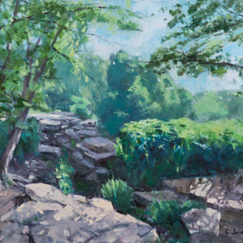 """Painting titled """"Early Summer"""" by Charles Jiao, Original Art, Oil"""