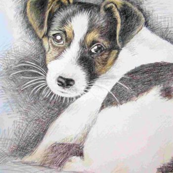Painting, oil, figurative, artwork by Arts & Dogs