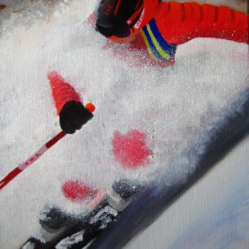 Sport Painting, oil, figurative, artwork by Christine Chevieux
