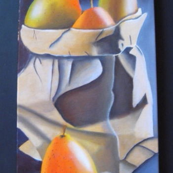 Painting, oil, figurative, artwork by Christine Chevieux
