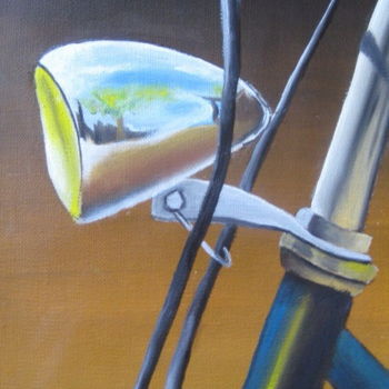 Bike Painting, oil, figurative, artwork by Christine Chevieux