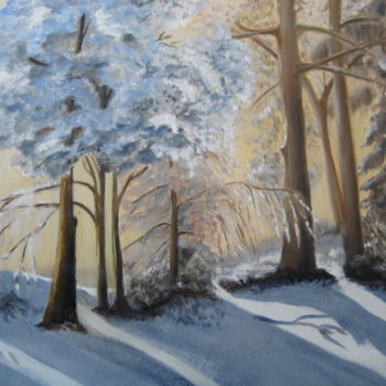 Nature Painting, oil, figurative, artwork by Christine Chevieux